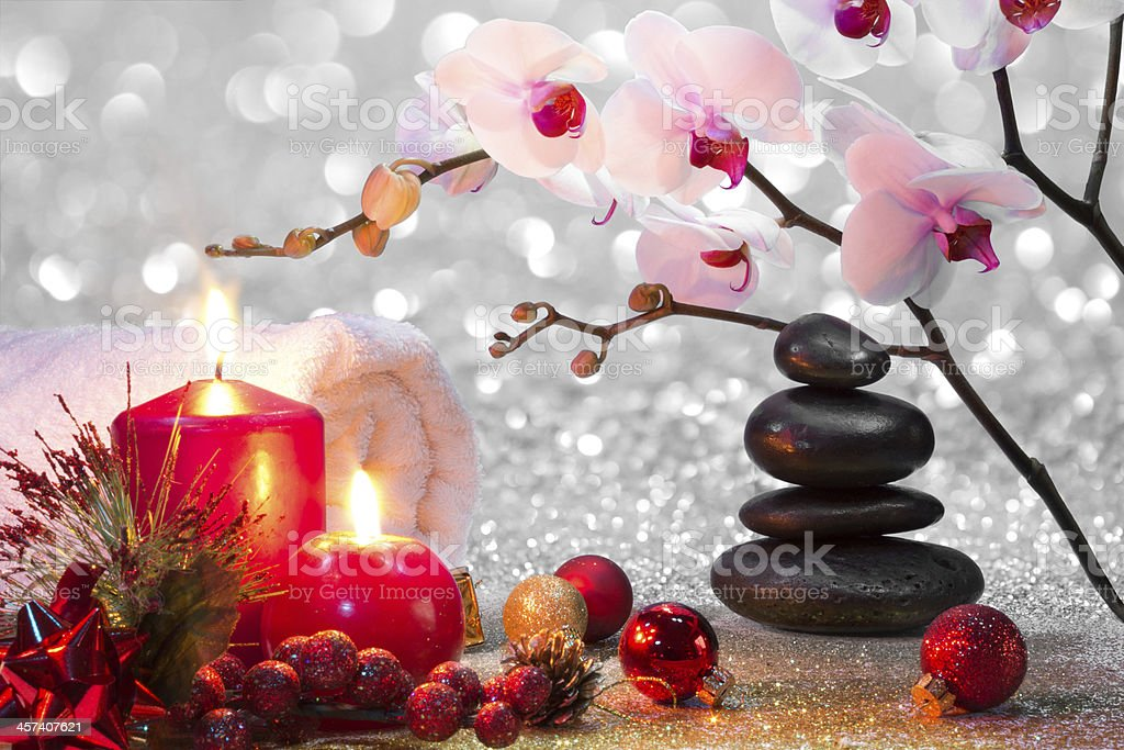 Massage Composition Christmas Spa Stock Photo & More Pictures of ...