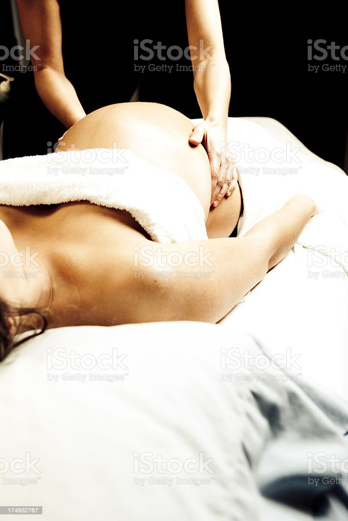 Massage During Pregnancy stock photo