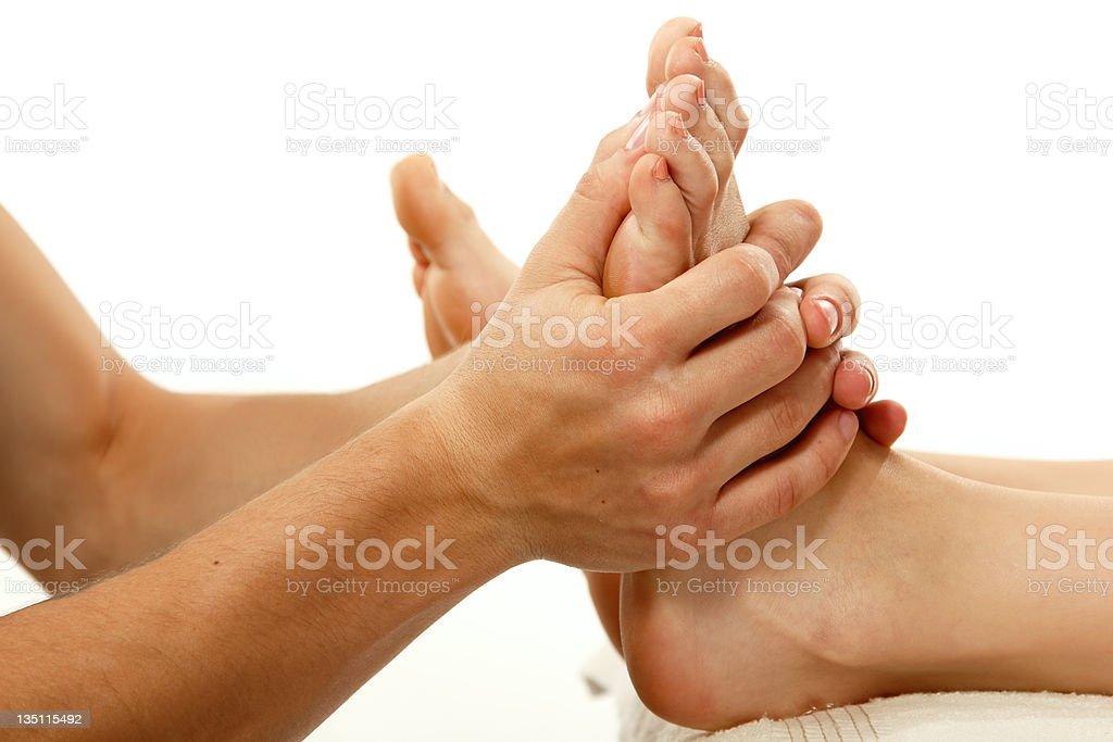 massage foot female royalty-free stock photo