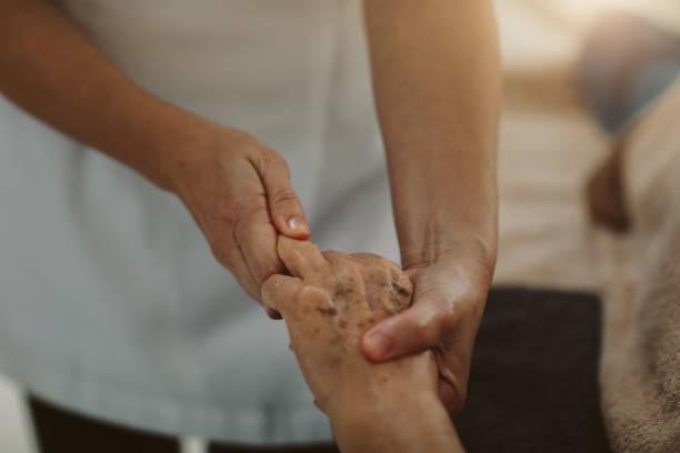 Massage for Seniors stock photo