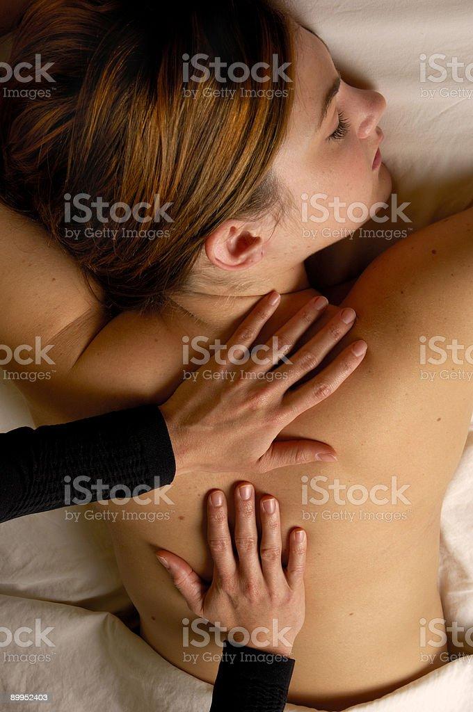 Massage Full Body at Spa Salon royalty-free stock photo