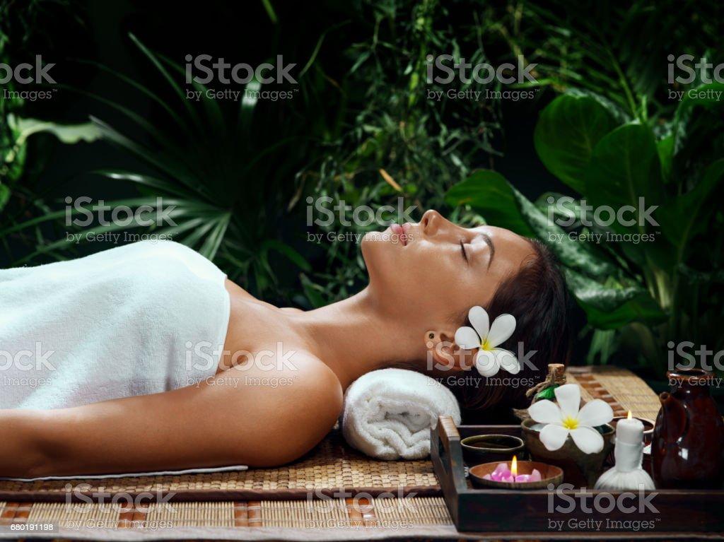 massage girl stock photo