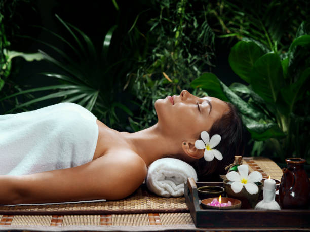 massage girl - thai massage stock photos and pictures