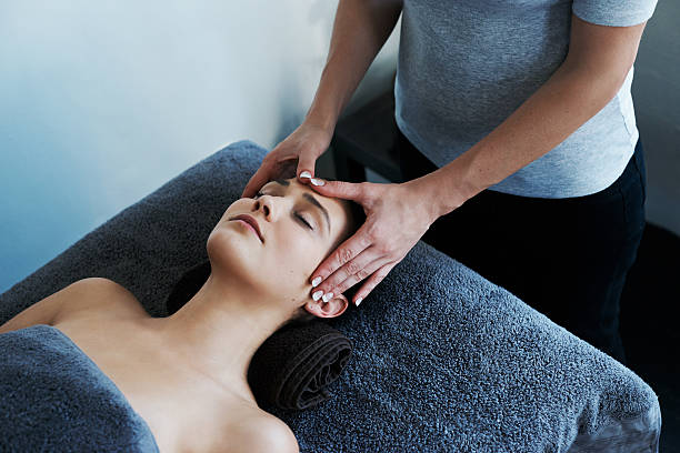 Massage, healing for the mind and body stock photo