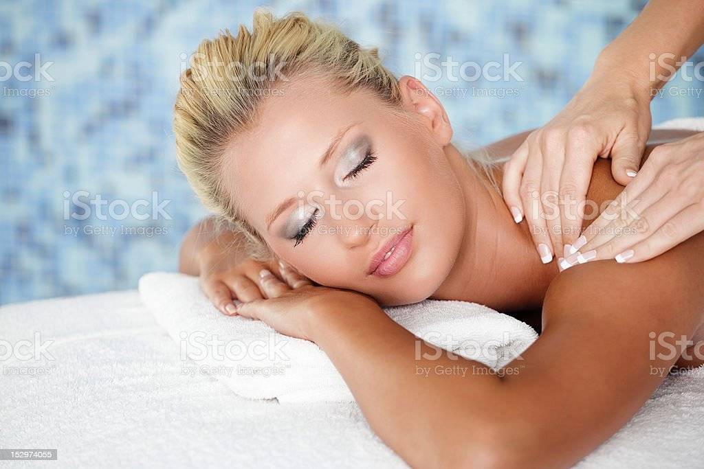 Massage in Spa royalty-free stock photo