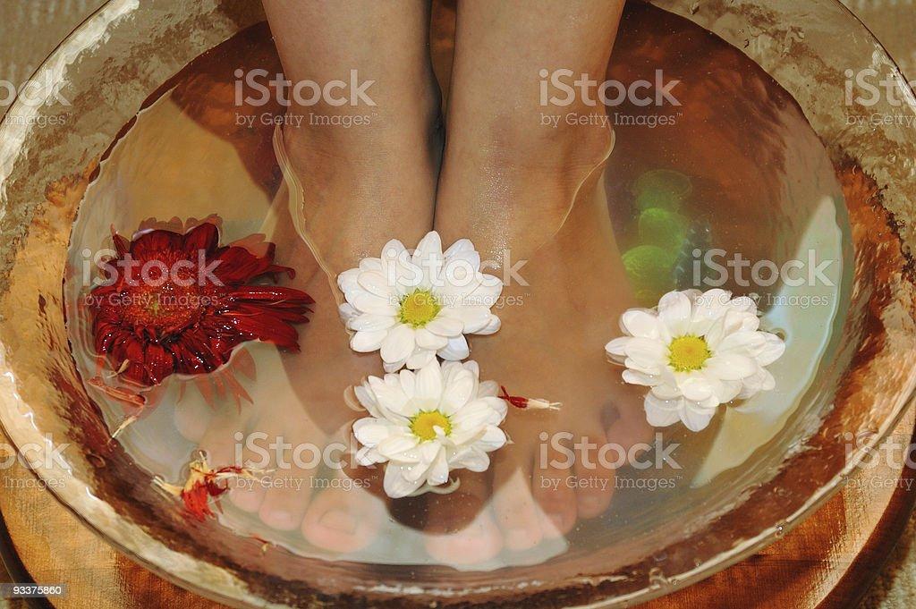 Massage of feet royalty-free stock photo