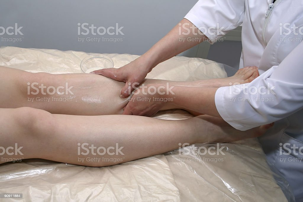 massage of legs royalty-free stock photo