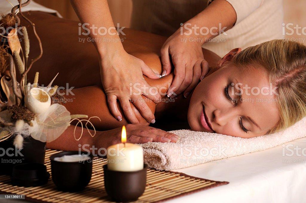 Massage of shuolder royalty-free stock photo