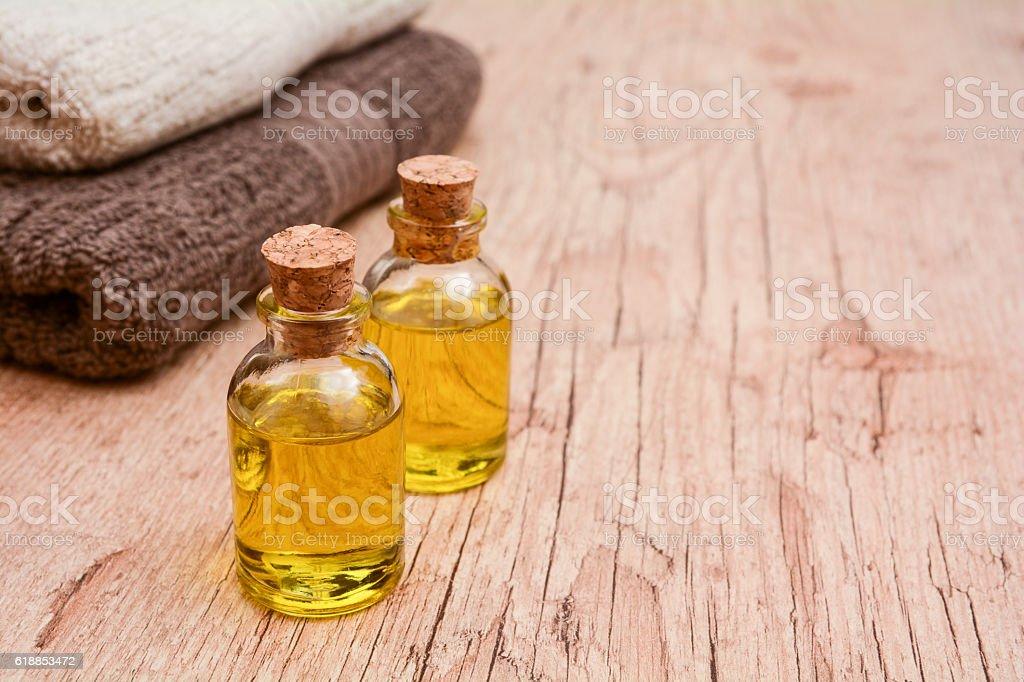 Massage Oil, Olive Oil stock photo