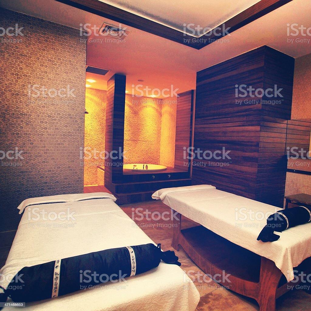 Massage room. stock photo