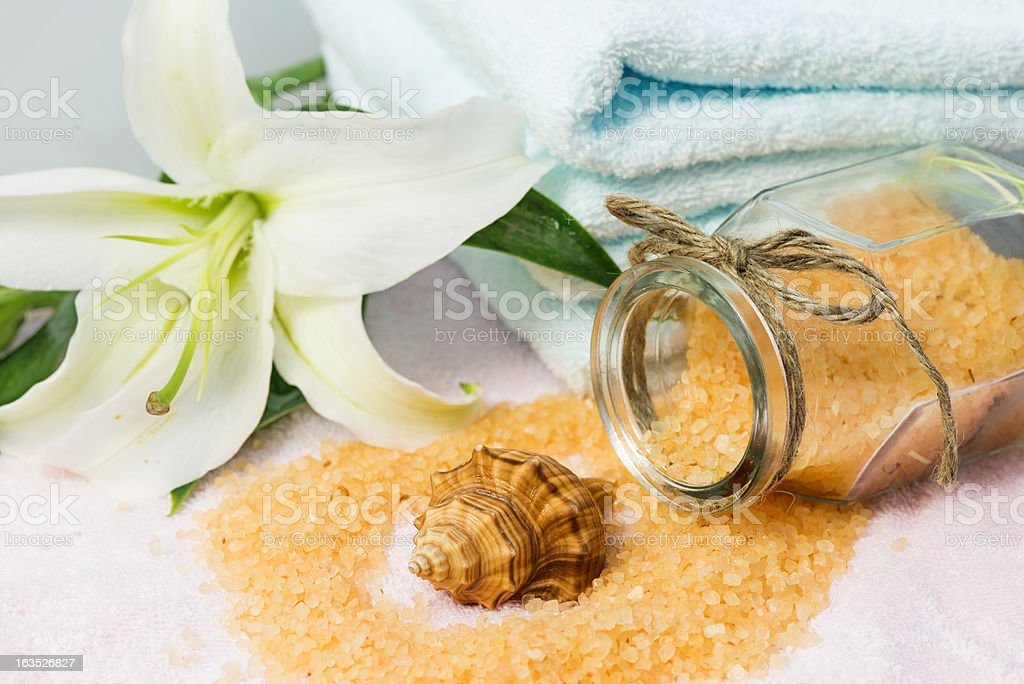 Massage Salt royalty-free stock photo