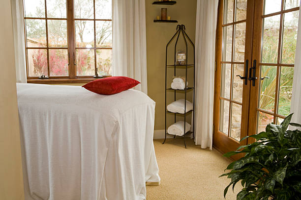 Massage Solarium stock photo