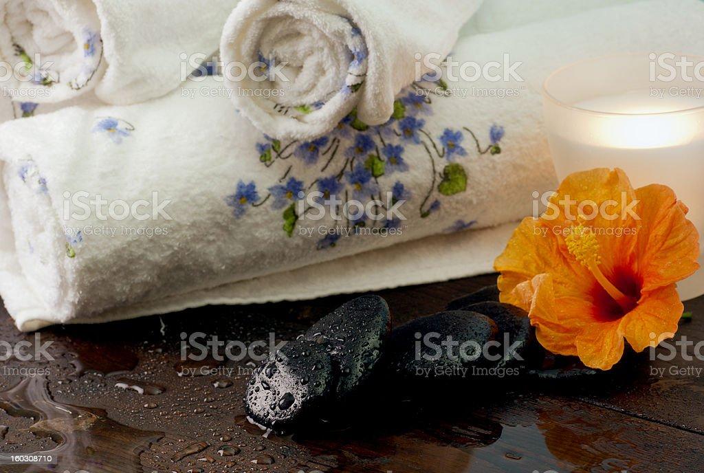 massage stones royalty-free stock photo