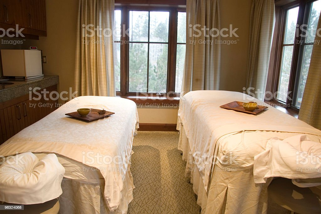 Massage tables for Two royalty-free stock photo