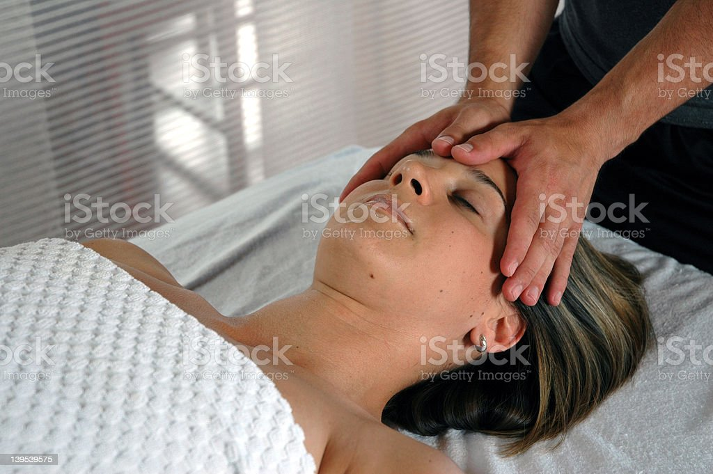 Massage - Temple royalty-free stock photo