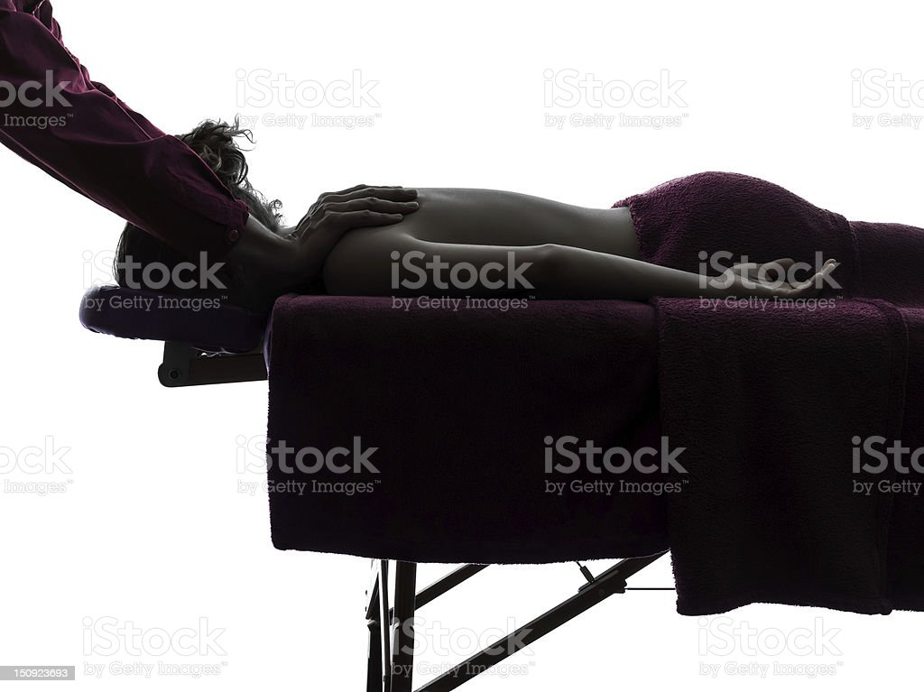 massage therapist royalty-free stock photo