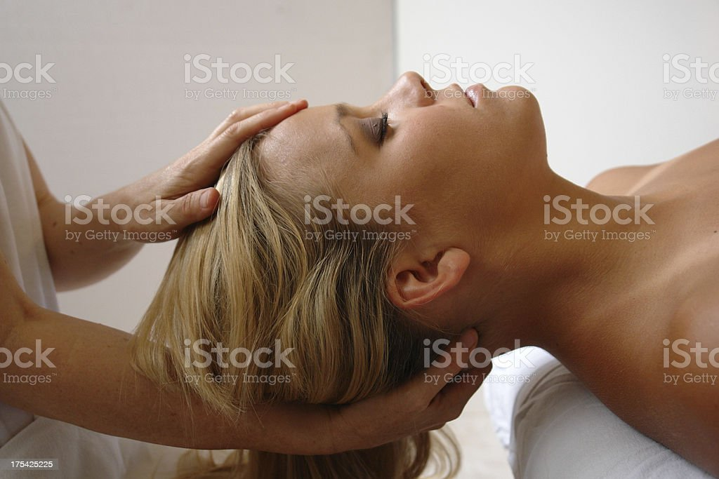 massage therapy adjustment royalty-free stock photo