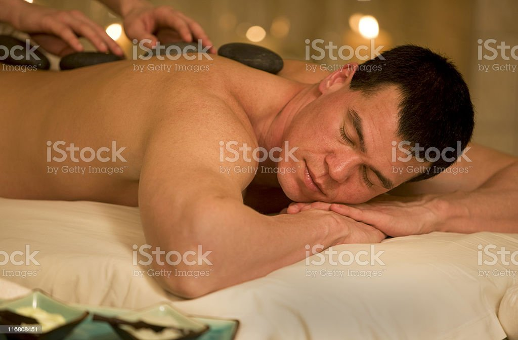 Massage Therapy At A Spa royalty-free stock photo