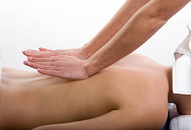 Massage therapy for relaxation stock photo