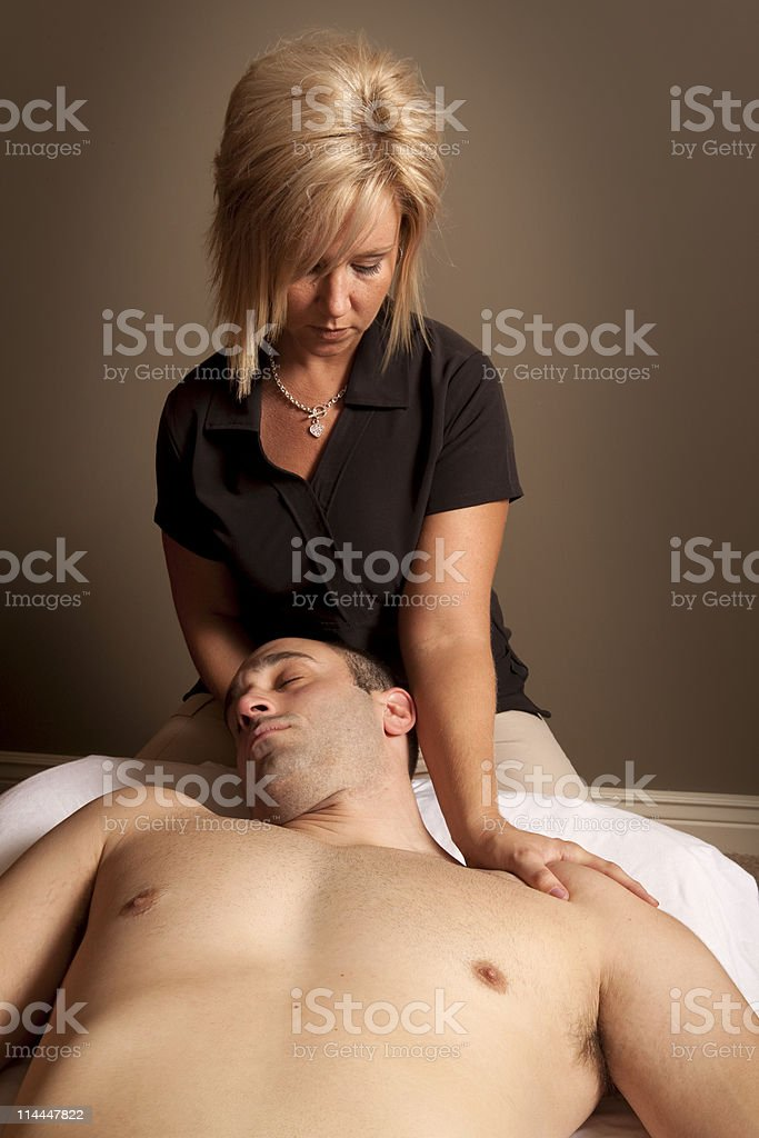 Massage Therapy royalty-free stock photo