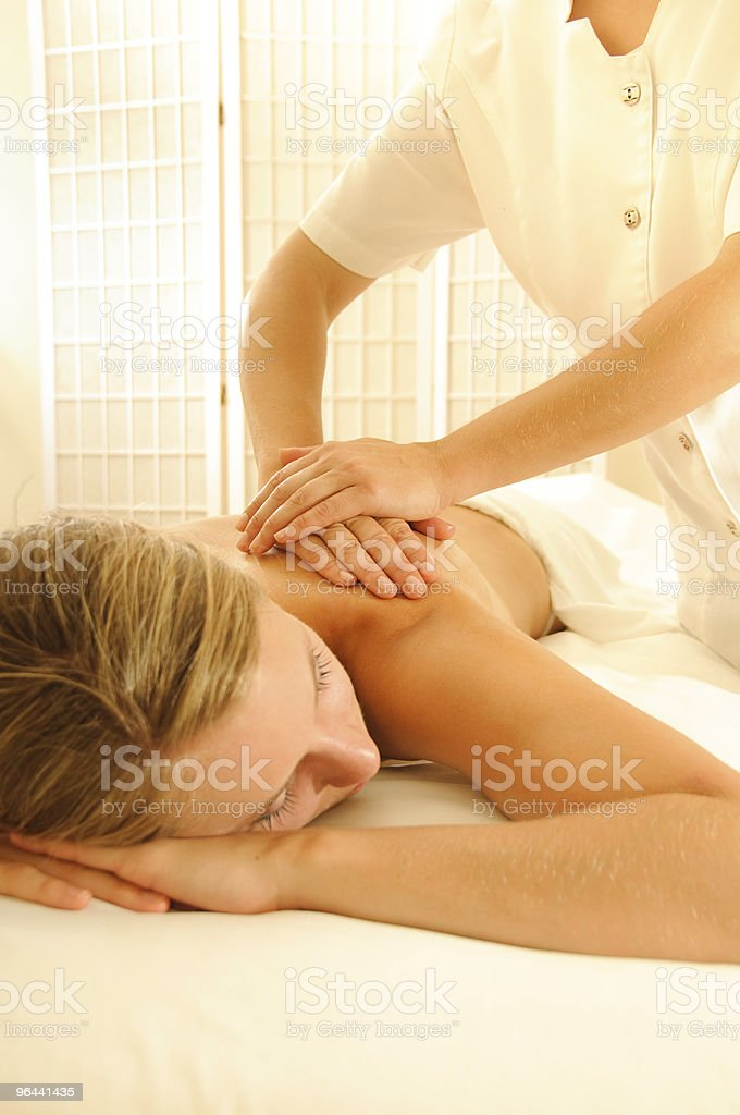 Massage Therapy - Royalty-free Adult Stock Photo