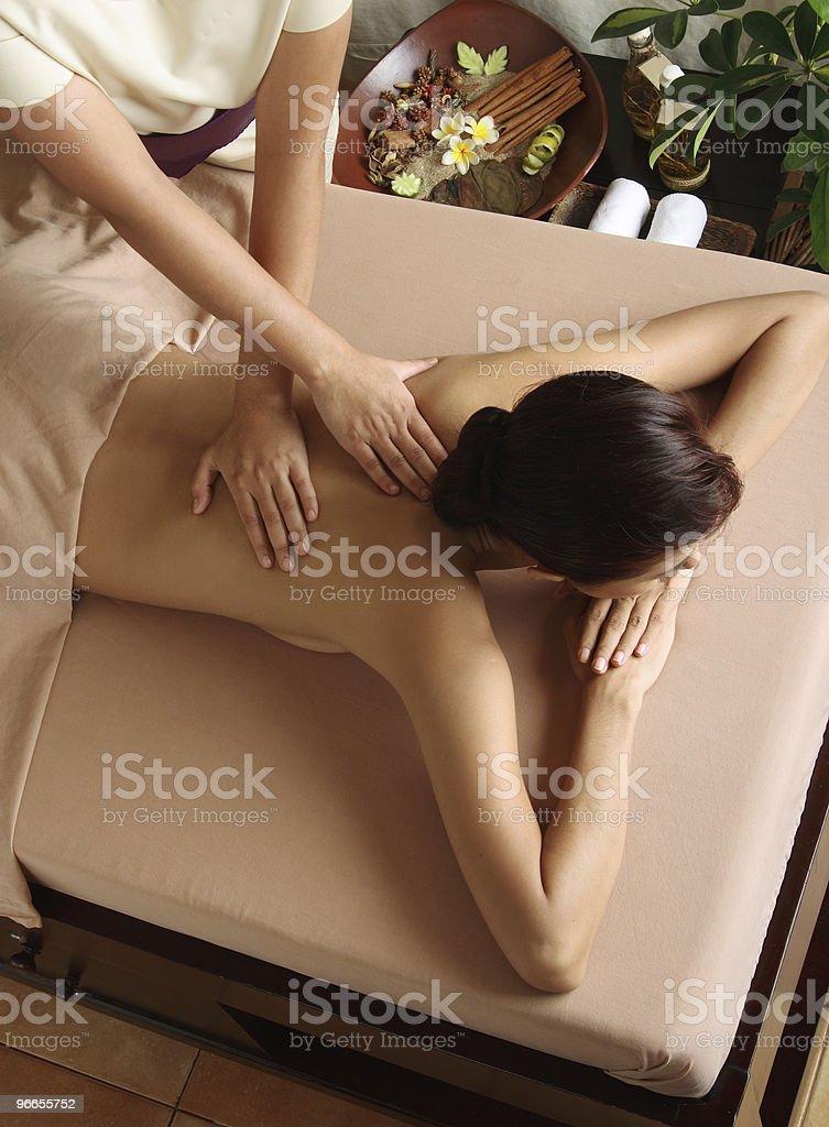 Massage-Therapie Lizenzfreies stock-foto