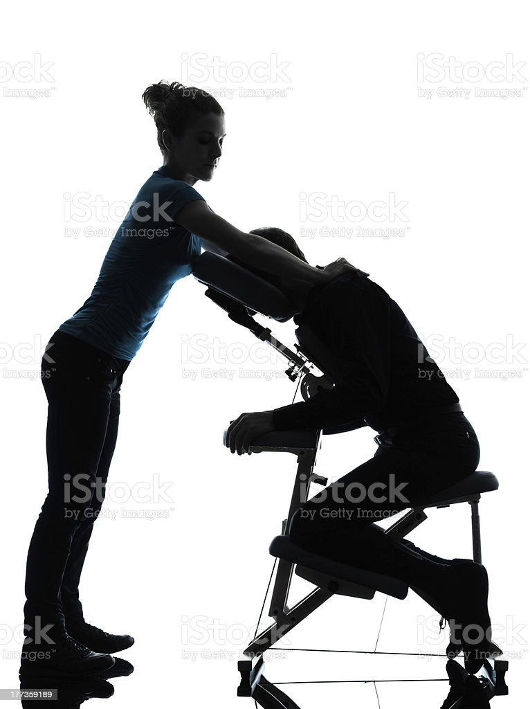 massage therapy with chair royalty-free stock photo