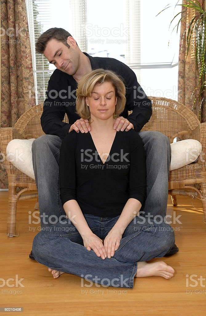Massage time royalty-free stock photo