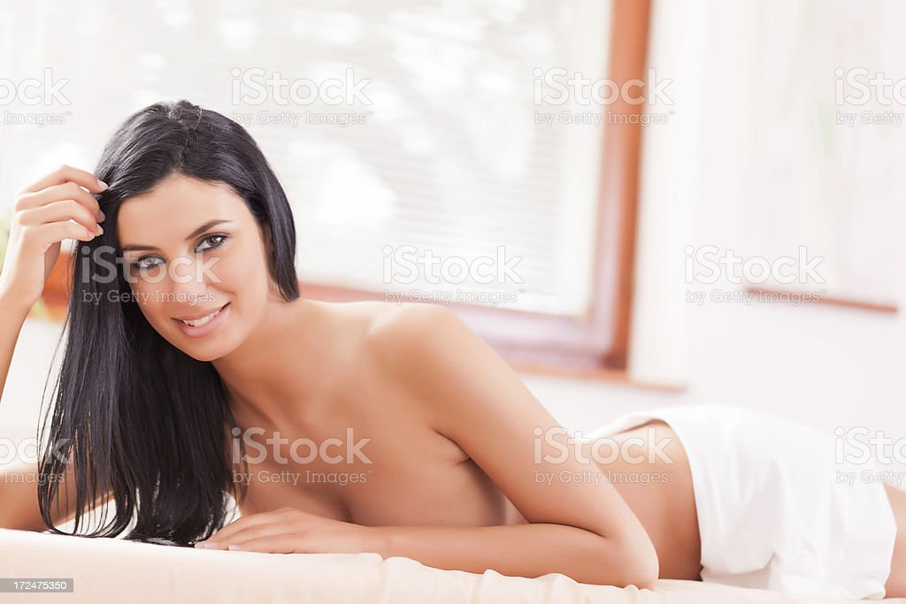 Massage treatment royalty-free stock photo