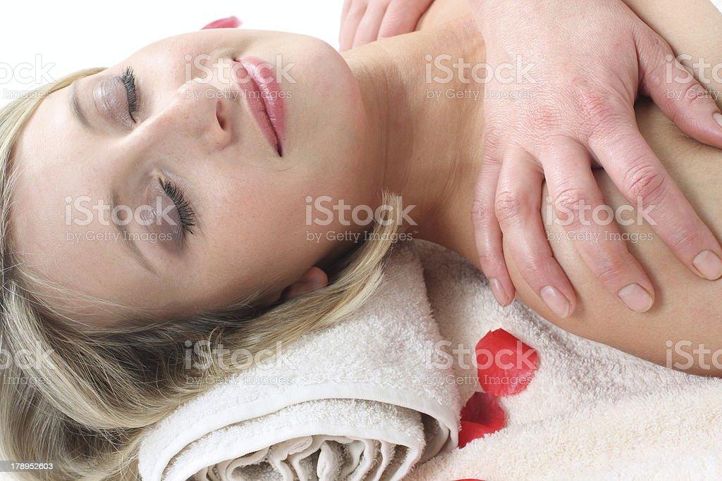 Massage  Treatment  Wellness royalty-free stock photo