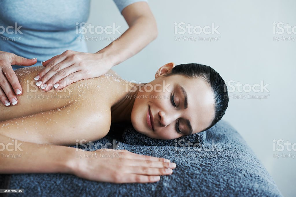 Massage your way to a good mood stock photo