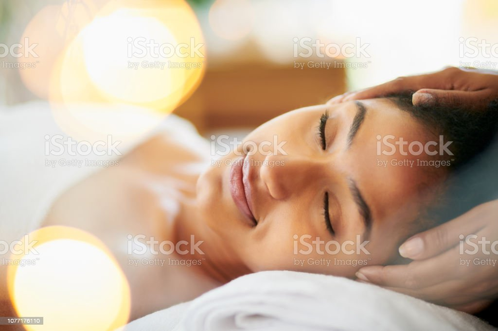 Massage your way to a relaxing day stock photo