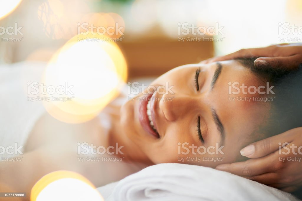 Massage your way to happiness stock photo