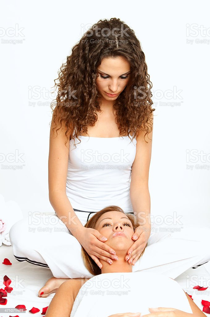 Massager doing treatment royalty-free stock photo