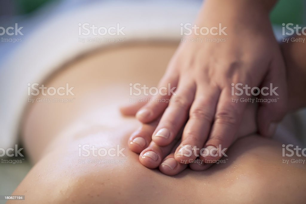 Massages stock photo