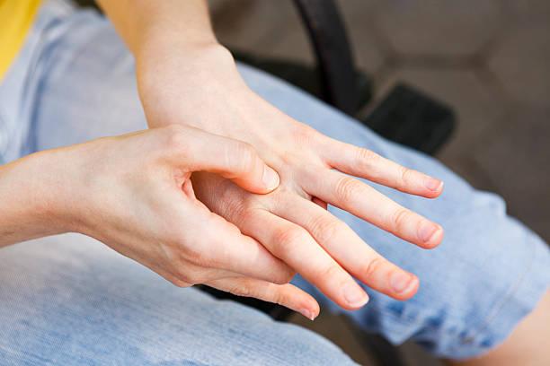 Massaging Hand stock photo