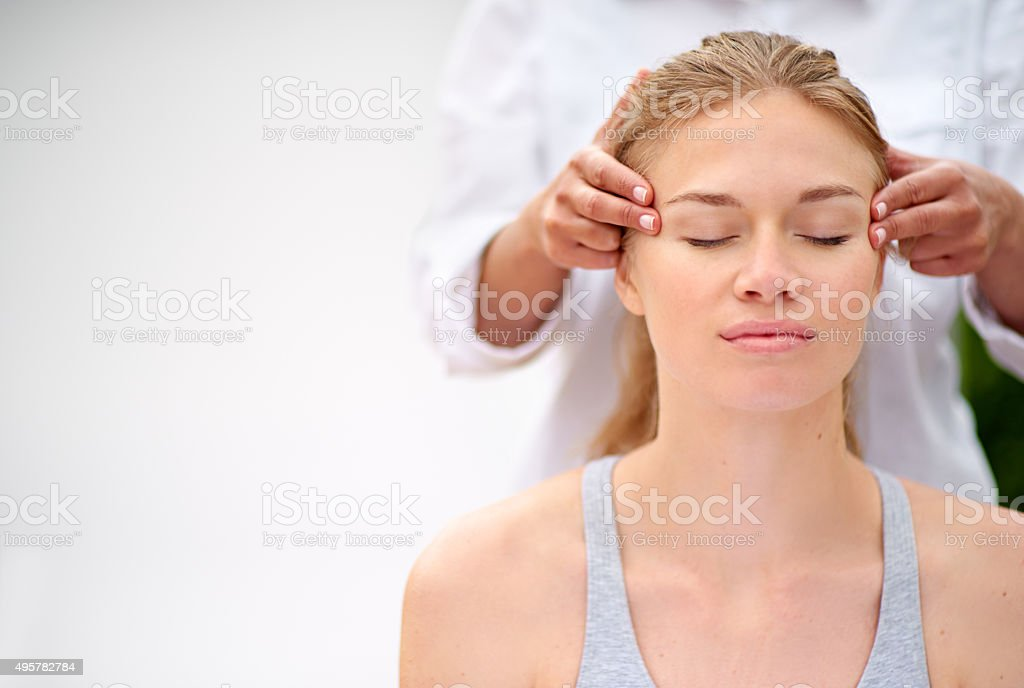Massaging the stress away stock photo