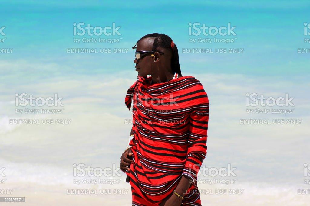 Massai man stock photo