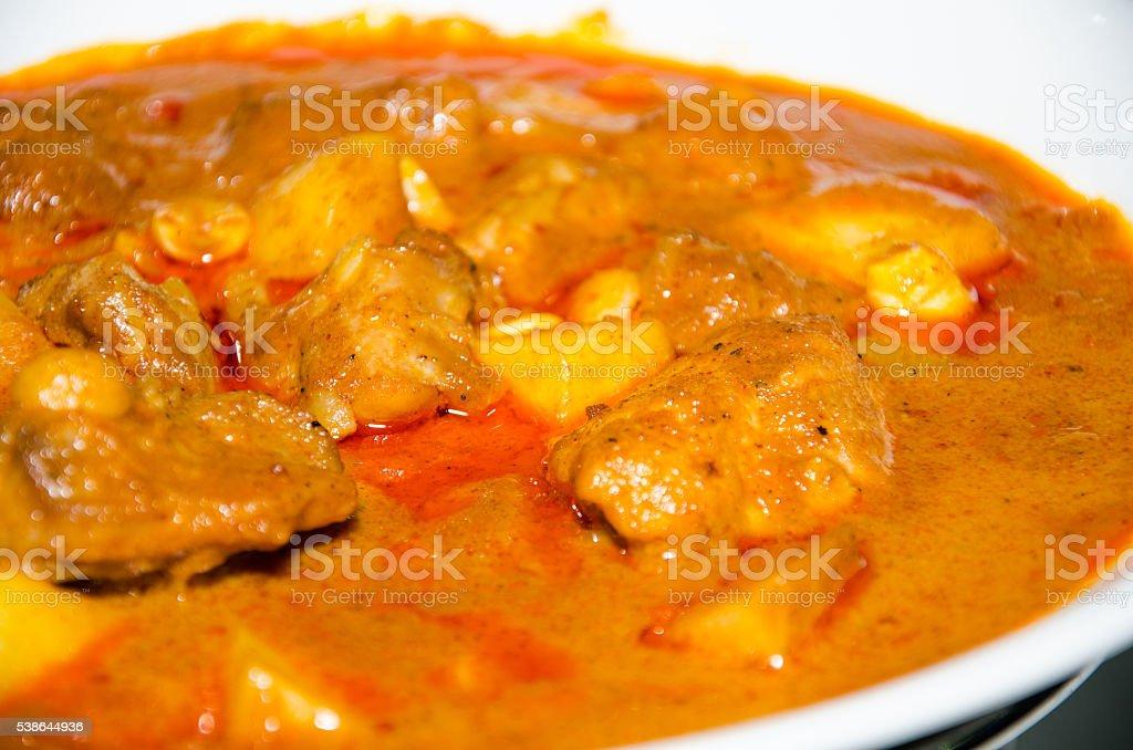 Massaman chicken curry. stock photo
