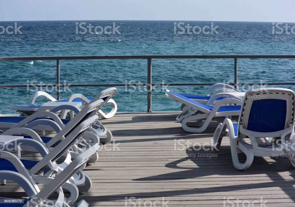 Massandra beach of Yalta stock photo