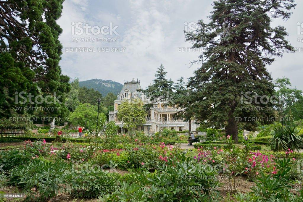 MASSANDRA, CRIMEA, RUSSIA - JUNE 09.2015: Massandra Palace and Park stock photo