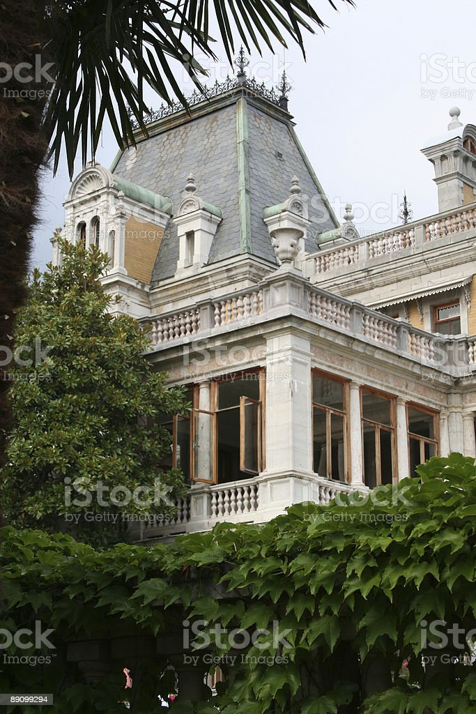 Massandra's palace in Yalta, Ukraine royalty-free stock photo