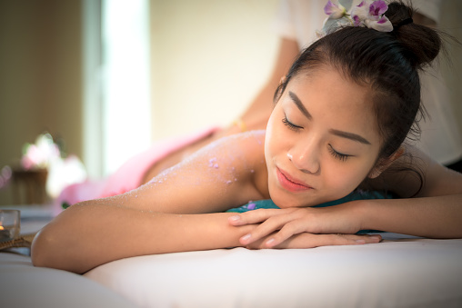 Masseur Doing Massage Spa With Treatment On Asian Woman Body In The Thai Spa Lifestyle So Relax And Luxury Healthy Concept Stock Photo Download Image Now Istock