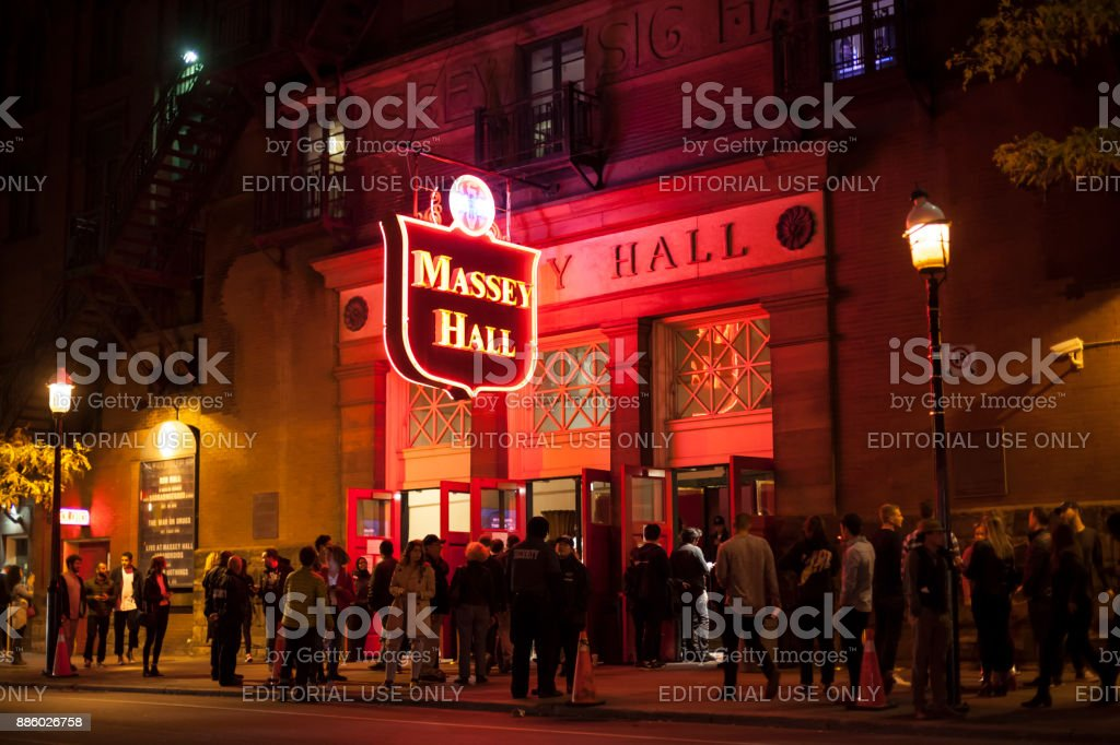 Massey Hall in Toronto, Kanada Lizenzfreies stock-foto