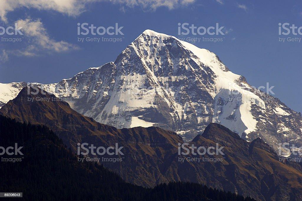 Massif of Jungfrau, Swiss Alps royalty-free stock photo