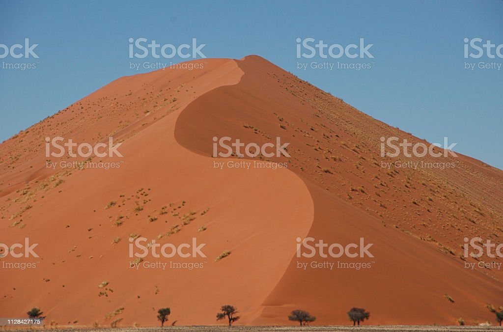 Massif red sand dune stock photo