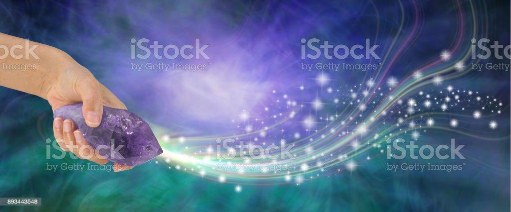 Massif améthyste baguette avec très belle énergie - Photo
