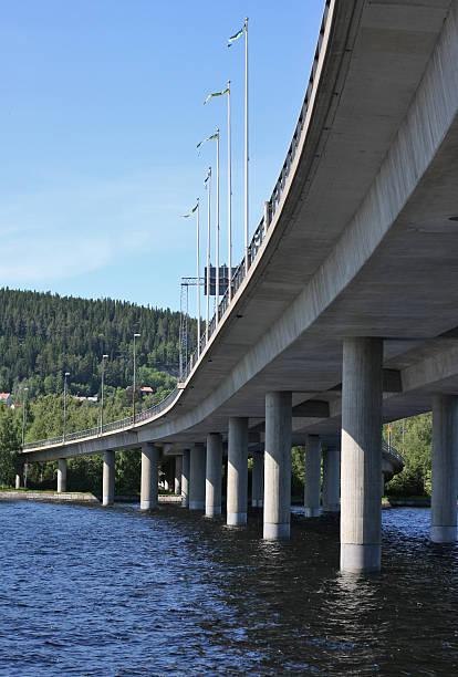 Massive Concrete Bridge bildbanksfoto
