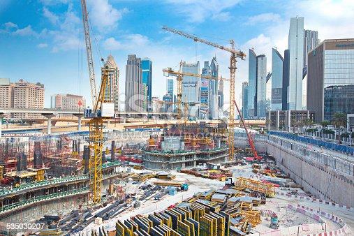 istock Massive construction in Dubai 535030207
