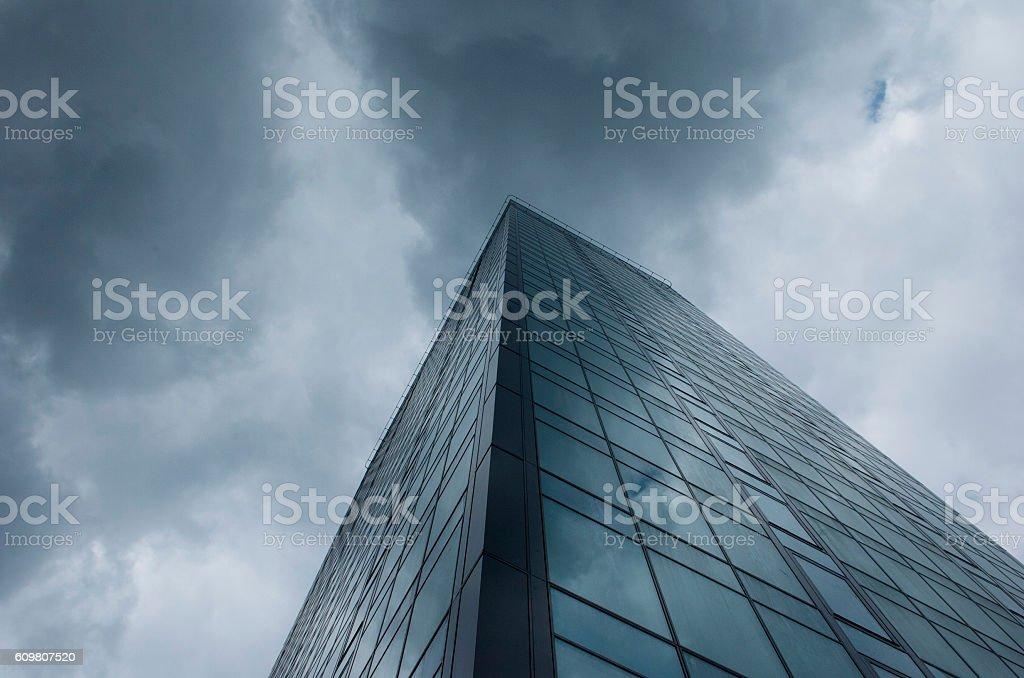 Massive corporate building stock photo